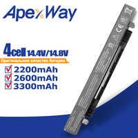 Apexway 14.8v Bateria Do Portátil para Asus a41 x550a A41-X550A X450 X550A X550 X550C X550B X550V X550D X450C X550CA A450 A550 X550L
