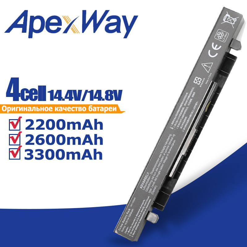 Apexway 14.8v Laptop Battery For Asus A41 X550a A41-X550A X450 X550A X550 X550C X550B X550V X550D X450C X550CA A450 A550 X550L