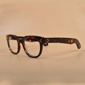 Image 1 - New Johnny Depp Glasses Men Women Optical Glasses Frame Brand design Computer Transparent Eyeglass Acetate Vintage Q321 2