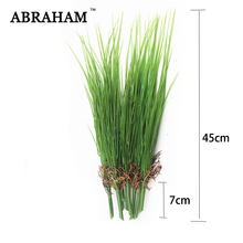 45cm Plastic Fake Plants Artificial Onion Grass Bunch Green Leaves Plant Branch Foliage Wall Material Garden Balcony Home Decor