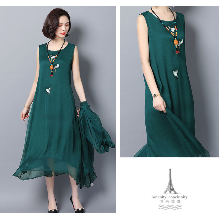 Robe De Soriee 2019 New Green Women's Gradient Mother Of The Bride Dresses With Jacket Asymmetric Chiffon Wedding Party Vestiods