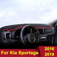 Voiture tableau de bord éviter Pad lumière Instrument plate-forme couverture de bureau tapis pour KIA Sportage 4 2016 2017 2018 2019 accessoires