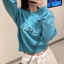 Sweaters Pullover Knitwear Jumpers Lazy-Style Chic Autumn Korean Winter Women Loose Laides