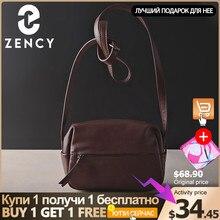 Zency 100% hakiki deri kadın askılı çanta Vintage çanta yüksek kaliteli omuz çantaları kadın Crossbody yumuşak rahat çanta