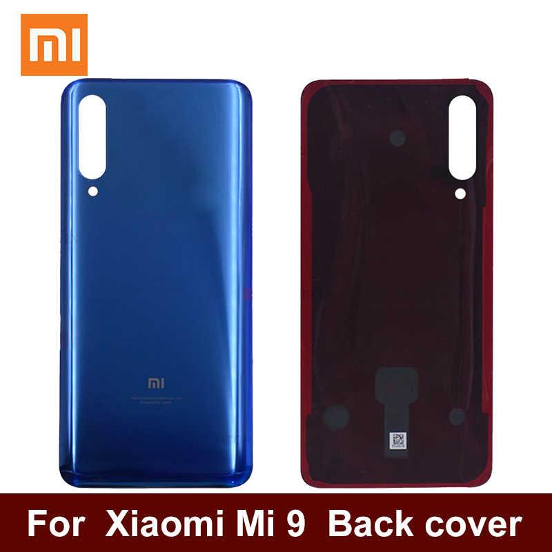Dành Cho Xiaomi Mi 9 Lưng Pin Ốp Lưng Thay Thế Phần 4D Kính Cường Lực Cho Xiaomi 9 Nắp Lưng Dụng Cụ