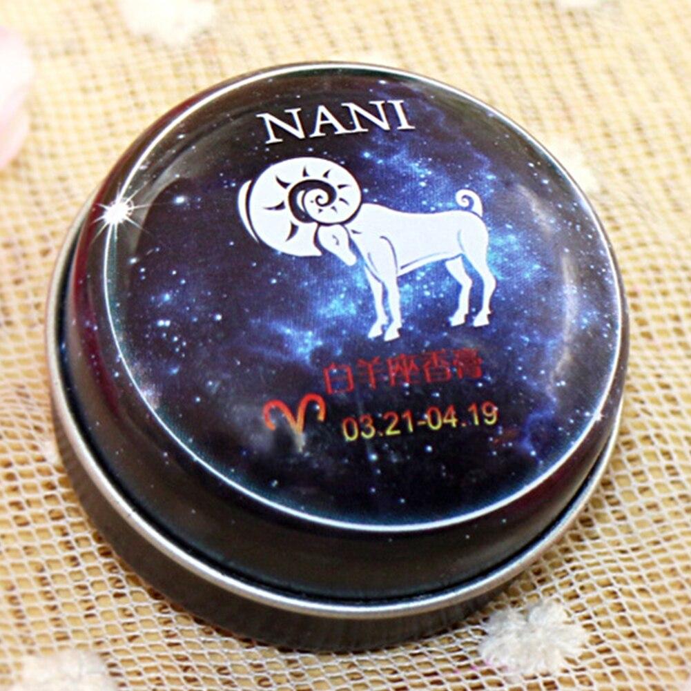 Women Men Long-lasting Fragrance Balm 12 Signs Solid Perfume Charm Romantic Portable Round Deodorant Non-alcoholic Skin Care