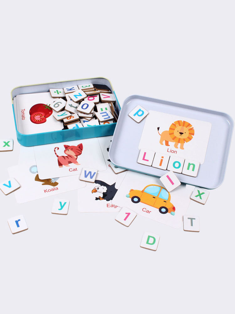 New Kids Wooden Magnetic Alphabet Spelling Words Puzzle Game Baby Early Educational Learning
