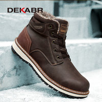 DEKABR 2021 New Snow Boots Protective and Wear-resistant Sole Man Boots Warm and Comfortable Winter Walking Boots Big Size 39-46 1
