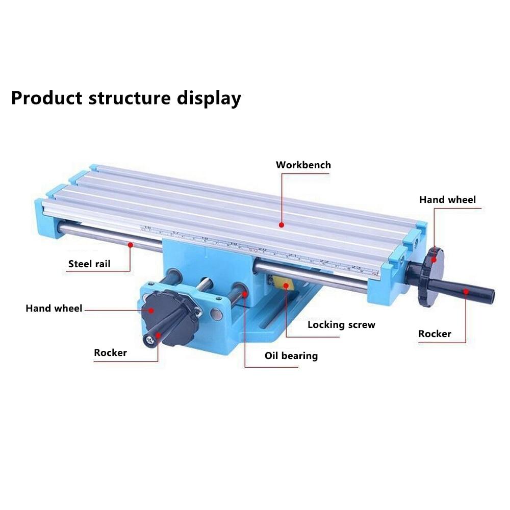 Mini Micro Bench Bohrer Tisch Bohrmaschine X Y-achse Einstellung Werkbank Bohrer Schraubstock Leuchte Koordinieren Tisch Fräsen Maschine