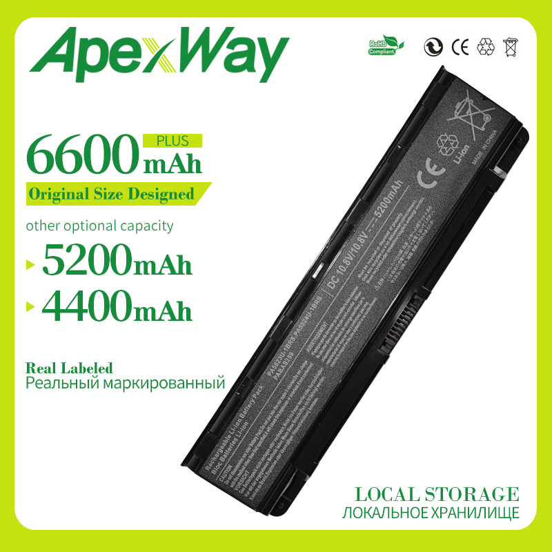 Apexway Battery For Toshiba Satellite C850 C850D C855D C855 PA5023U-1BRS PA5024U-1BRS 5024 5023 PA5024 PA5023 PA5024U C870 C875