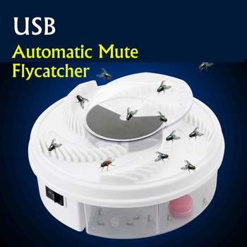 Electric Fly Trap Anti Fly Killer Traps Automatic Flycatcher Device Insect Pest Reject Control Catcher Fly Trap Catching Usb electric flycatcher automatic fly trap device with trapping food fly catcher trapper pest insect flytrap usb type fly trap bait
