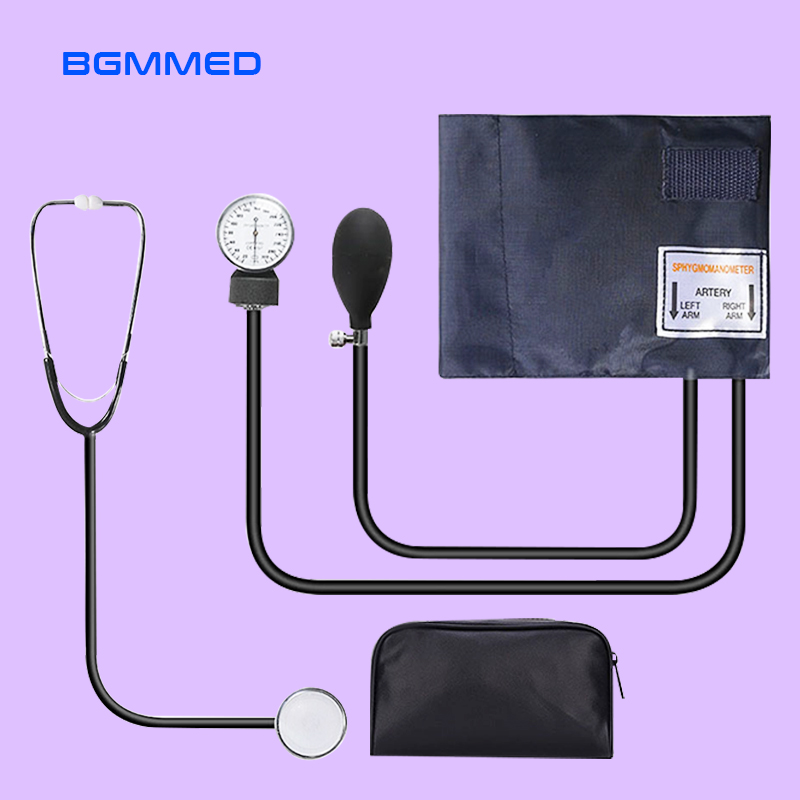 Manual Blood Pressure Monitor Measure Stethoscope Use Doctor Systolic Diastolic Sphygmomanometer Device Cuff