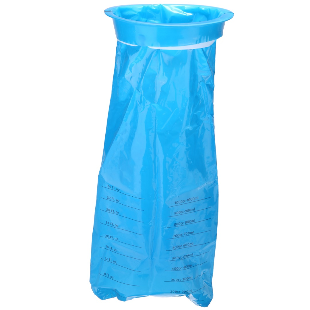 10pcs/50pcs 1000ml Disposable Vomit Bags Blue Sick Vomit Bag For Travel Plane Motion Car Sea Emergency Sickness