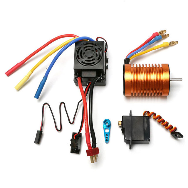 Waterproof B3650 4300KV brushless motor 60A ESC metal servo assembly set For WLtoys 12423 12428 ABC Quality RC Car Parts