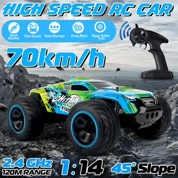 70Km/h 2WD 1/14 RC Car Remote Control Off Road Racing Cars Vehicle 2.4Ghz Crawlers Electric Monster Truck Car
