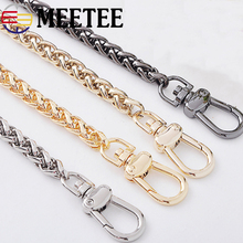 Meetee 7mm Width 50-130cm Metal Chain Straps Purse Bag Handbag Replacement Crossbody Strap Parts Hardware Accessories