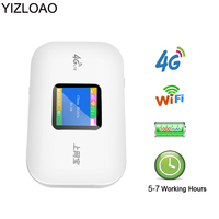 YIZLOAO 잠금 해제 4G 와이파이 라우터 미니 3G 4G Lte 무선/휴대용/포켓 와이파이 모바일 핫스팟 자동차 와이파이 라우터와 Sim Mifi