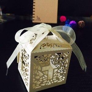 Image 5 - 50 sztuk/partia DIY skrzyżowanie pudełka cukierków anioł pudełko na Baby Shower chrzest urodziny pierwsza komunia chrzciny wielkanocne dekoracje