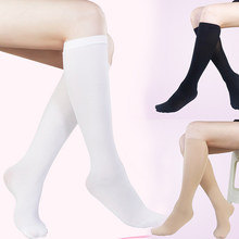 Sokken Vrouwelijke Uniform Effen Kleur Half Been Kalf Sokken Japanse Buis Sok College Wind Student Sokken Knie Lange Buis Leuke