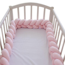 Protector de cuna para bebés, cojín con nudo trenzado para cuna, parachoques para decoración de habitación, 3M/2M/1M