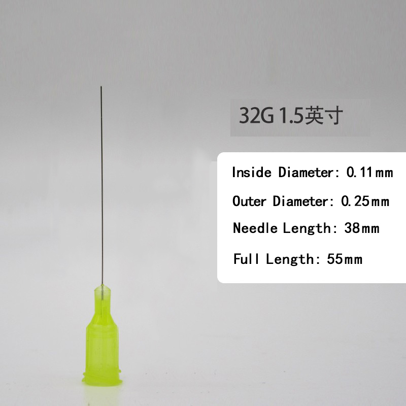 Wholesale ,32G ,Dispensing Needles Syringe Needle 32G 1.5 Inch Length, Blunt Tip, Screw Interface,   10 Pcs /pack