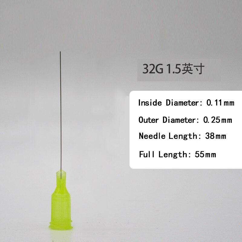 Wholesale ,32G ,Dispensing Needles Syringe Needle 32G 1.5 Inch Length, Blunt Tip, Screw Interface,   10 Pcs /pack