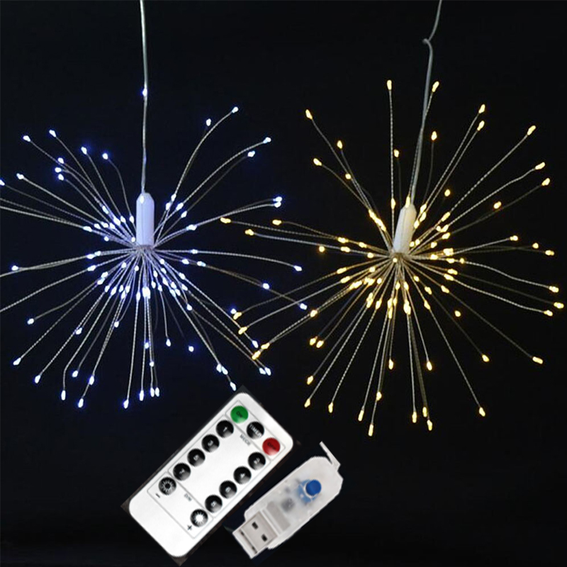 Garland Lights Outdoor Firework Christmas Lights Power 100-180 LED String Copper Wire Fairy Lights Xmas Party Decor Lamp Twinkle