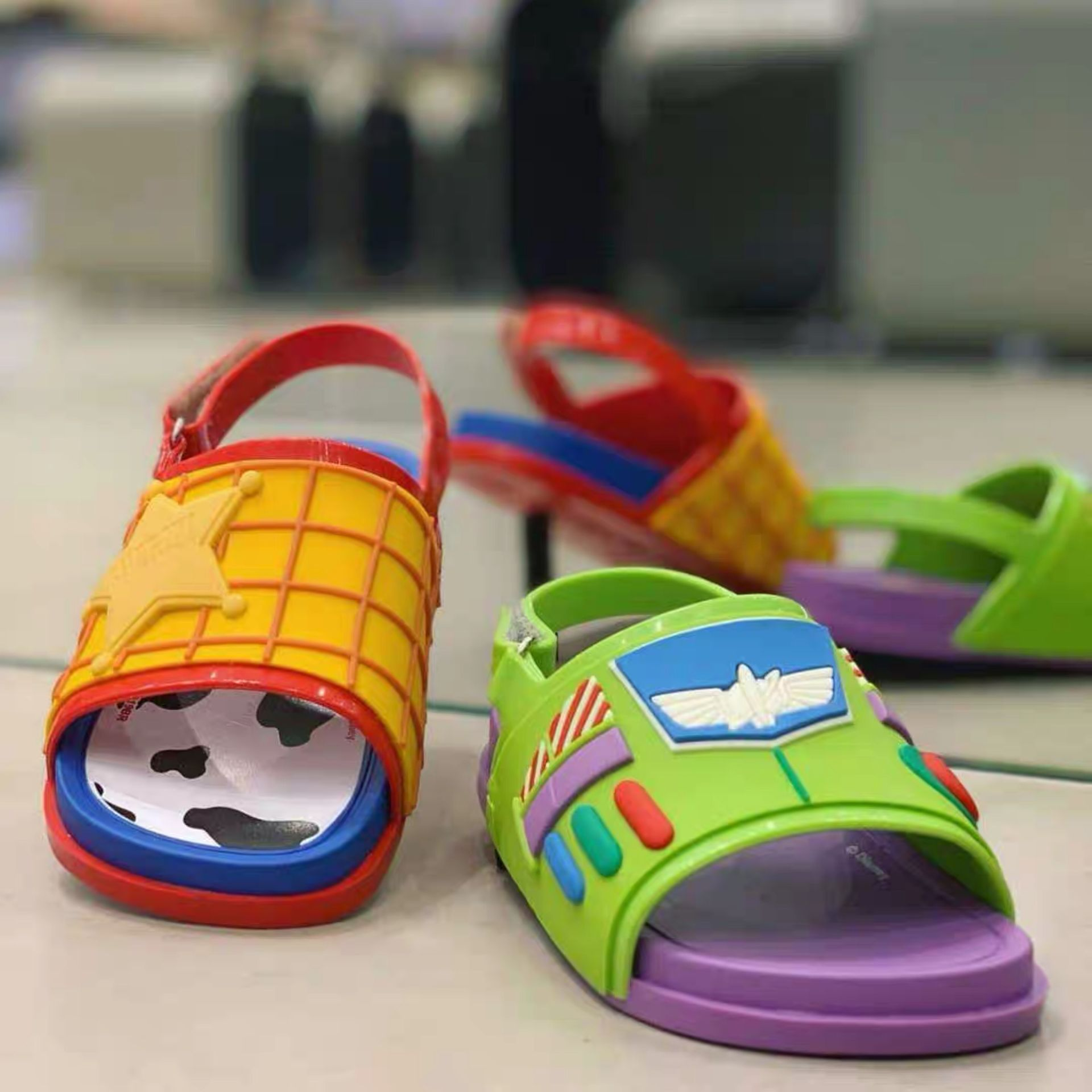 Mini Melissa Boy's Summer Sandals Toy Story Mania Kids Jelly Shoes Fashion Children's Toddler Candy Beach Sandals HMI004