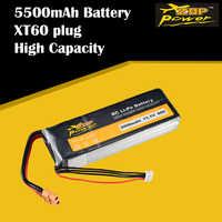 Batería Lipo 3S para Dron de carreras de control remoto, ZOP Power, 11,1 V, 60C, 5500mAh, XT60, recargable, helicóptero, coche, barco
