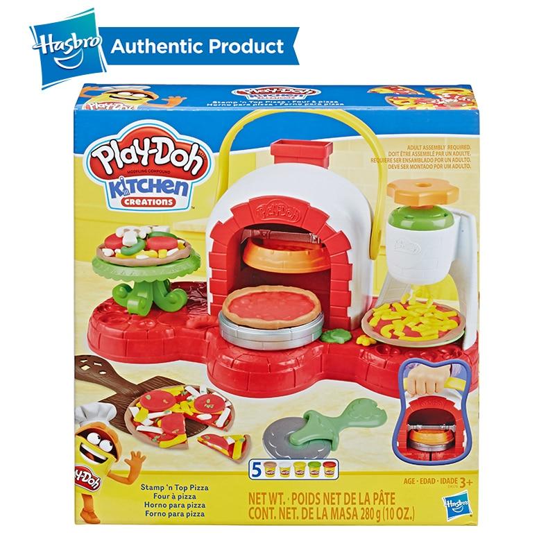 Juguete para horno de Pizza con sello y sello de Hasbro Play-Doh con 5 colores no tóxicos, creaciones de cocina, arcilla compuesta para niños, juegos divertidos - 6