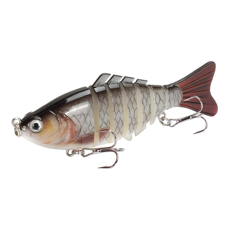 1PCS Trolling ปลาเหยื่อว่ายน้ำ Minnow Wobbler Multi-section Hard Bait100mm/15g ประดิษฐ์ Crankbait JIG Pesca fishing Tackle Lure