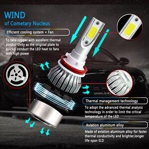 Image 4 - 2 шт. H11 H7 H1 H3 по технологии COB светодиодный налобный фонарь лампы H4 (Подол короче спереди и длиннее сзади) Луч 72W фары для 8000LM 6500K Авто головного средства ухода за кожей Шеи светильник 9005 9006 светодиодный автомобильный светильник тумана светильник s