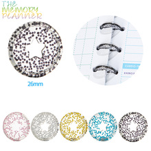 Binder-Rings Notebook-Disc-Planner Loose-Leaf Discbound Star A5 11pcs