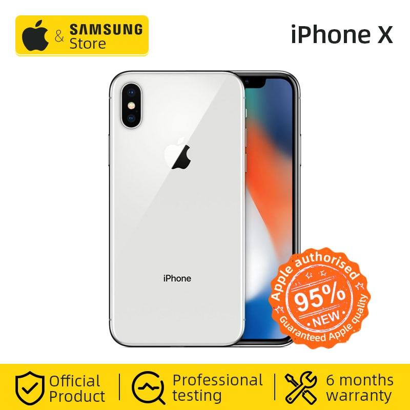 Original Unlocke Apple IPhone X Face ID 64GB / 256GB Hexa Core IOS A11 5.8 Inch 12MP Dual Back Camera 4G LTE NFC (Used 99% New)