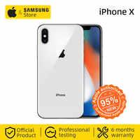Original Unlocke Apple iPhone X Face ID 64 GB/256 GB Hexa Core iOS A11 5.8 pouces 12MP double caméra arrière 4G LTE NFC (utilisé 99% nouveau)