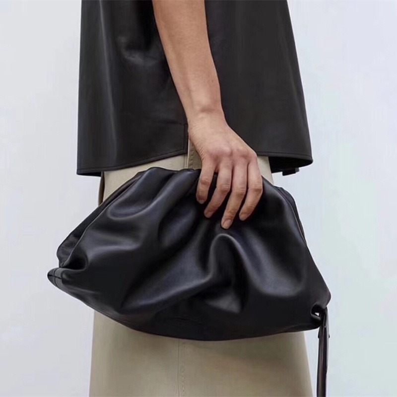 women clutch bag fashion black clutch envelope genuine leather handbag designer luxury handbags women hand bags cloud bag tote