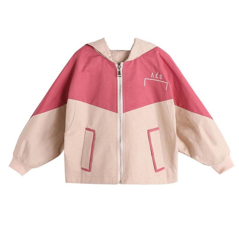 Корейская детская одежда для девочек Осенняя верхняя одежда 2019 модная одежда с длинными рукавами смешанные Цвета куртки с вышивкой и 3-12Yrs п...