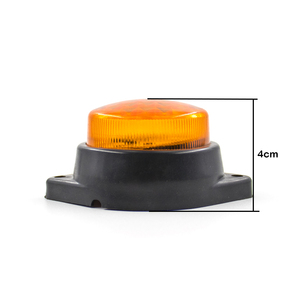 Image 5 - LED Car Trailer Truck Side Marker Signal Tail Light Indicator Brake Round Lamp Clearance Auto Truck Trailer Bus Lorry 24V