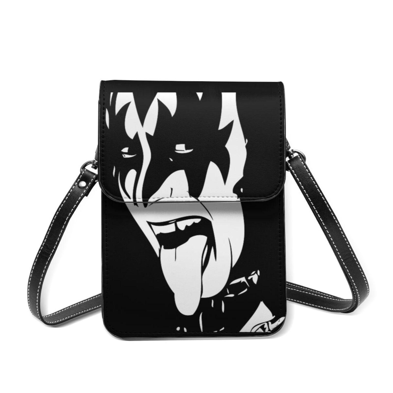 Kiss Band Shoulder Bag Shopping Student Mobile Phone Bag Fashion Reusable Leather Bags