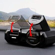 พอร์ต USB แบบ Dual 2 WAY รถซ็อกเก็ตไฟแช็ก Splitter Charger Fast ชาร์จพับรถ Charger