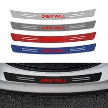 1 pçs tronco do carro guarda traseira amortecedor protetor de fibra carbono adesivo para great wall haval hover h3 h5 acessórios