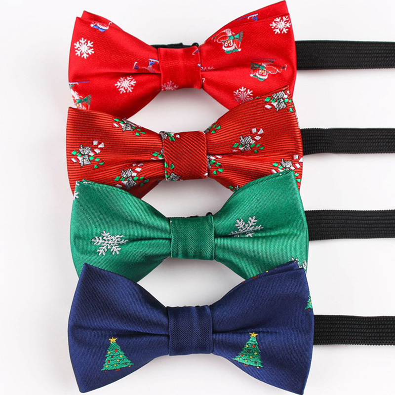 Christmas Bow Tie Children Snowflake Tree Xmas Pattern Bowtie For Boys Kids Gifts Size 9cm*5cm BowTies