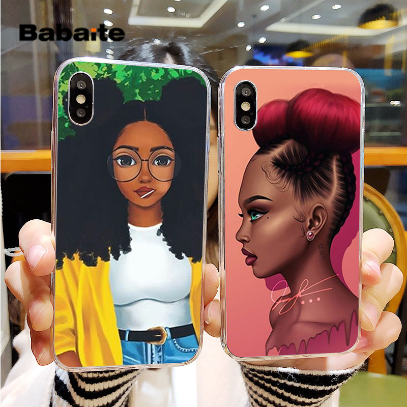Babaite Black Girl Magic Melanin Poppin Hot Selling Cell Case for Apple iPhone  5 5S SE 6 6S 7 8  Plus X XS MAX XR Mobile Cases girl