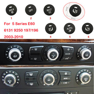 Per BMW 5 Serie E60 Aria Condizionata Interruttore Sul Pannello Pulsante Manopola di Comando Centrale Della Copertura MAX AUTO OFF RESTO Sede di Ventilazione(China)
