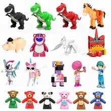 Legoing Toy Story Movie 2 figuras bloques abrazando Dragon Disco Kitty figuras de acción ensamblar bloques de construcción de juguete para niños(China)