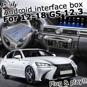Android / carplay interface box for Lexus GS 2012-2019 12.3 video interface with mouse control GS200t GS300 GS450h GS350 GS300h image