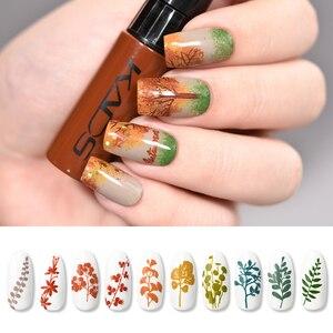 Image 4 - Esmalte de uñas estampado Set uñas plantillas barniz 10g 41 colores de esmalte de uñas Set 2 usos Nail art pen sellos uñas placas