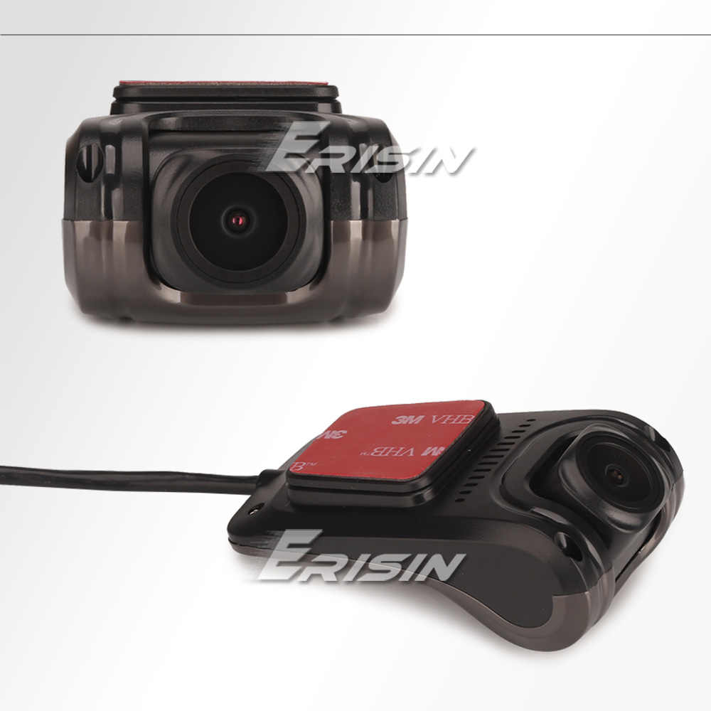 650K Dvr Erisin Camera Dashcam Usb Android 5.1-10.0 Hd 1080P 150 ° Night View Voor Android auto Stereo Autoradio