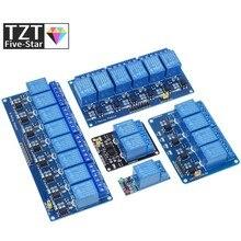 TZT 5v 12v 1 2 4 6 8 moduł przekaźnikowy z transoptor wyjście przekaźnikowe 1 2 4 6 8 way moduł przekaźnikowy dla arduino w magazynie