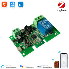 Tuya Zigbee Jog Inching Switch Module ,USB 5V 7-32V DIY Smart Switch, Works with Sonoff Zigbee Bridge, Voice Control by Alexa